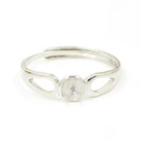 Moda considerável sólida de prata esterlina das mulheres anel de pérola montar ajustável S925 DIY anel de festa de casamento anel de jóias para as mulheres JZT006