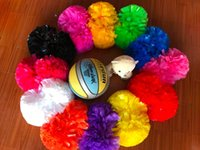 "professionnel Pom Poms 6"" 1lot de promotion de l'or métallique"