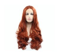 Hot selling fashion long hair wig 24 inch curly auburn water...