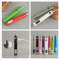 UGO V II V2 650mAh 900mAh 510 preriscaldamento Batteria colorato Confezione Mirco Cavo USB per E-sigarette vaporizzatori