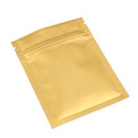 100PCS calore sigillabile Bag Small Package lucido Lati piatti di metallo Mylar Oro serratura della chiusura lampo Borse 7.5x10cm (3x4in)