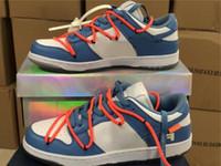 Authentische Weiß X Futura X Sb Dunk Low Unc Light Blue Beiläufiges Skateboard Schuhe für Männer Ct0856-700 Sport-Turnschuhe mit ursprünglichem Kasten