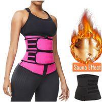 S-XXXL زائد حجم الخصر حزام المدرب المرأة الخصر السامي عرق المشكل الفخذ تصحيح مكثف قابل للتعديل حزام ساونا