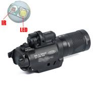 NUOVA luce SF X400V-IR torcia elettrica tattica della pistola LED a luce bianca e uscita IR con laser rosso Contrassegnato Versione Nera