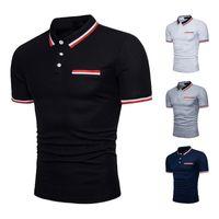 Yeni Erkek Gömlek Pamuk Kısa Kollu Turn-aşağı Yaka Erkek Gömlek İnce Stil Asya Boyut M-3XL