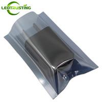 Leotrusting 200 adet / grup Üstü Açık Anti-statik Çanta Plastik Anti Statik Koruyucu Çanta Sabit Disk / Ana Kurulu Elektrostatik Önleme Çantaları