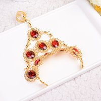2019 new trend designer belly dance accessories Indian dance red beads and diamond bracelet ladies Valentine's Day gift