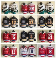Vintage Washington Capitals Jersey 8 Alex Ovechkin 68 Jaromir Jagr 37 Kolzig 12 Jeff Friesen 5 Rod Langway 21 Maruk 11 Gartner CCM Hockey