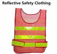 ملابس تحذير جديدة الرؤية عاكس السلامة شيال معطف الصرف الصحي الصدرية السلامة المرورية سترة سلامة العمل القماش صدرية