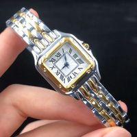 Hohe Qualität Top Frauen Kleid Uhren SUQARE Zifferblatt Edelstahl Band Mode Quarzuhr für Leads Mädchen Weibliche Besten Geschenk Montre de luxe