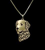 Продам оптом Золотой ретривер ожерелье 3D вырезать лакомство щенок собака кулон любовник мемориальные ожерелья подвески Рождественский подарок