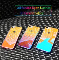 For iphone xs xr phone case Creative electroplating gradient...