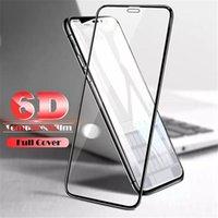 Tam Kapak 6D temperli cam iphone 11 için pro max X XS MAX XR Ekran Koruyucu AB Tutkal Kenardan Kenara için Iphone 6 7 8 Artı paket olmadan