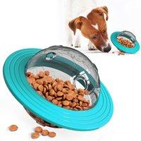 Haustier Hundespielzeug Lebensmittel Spender UFO Ball Fliegenscheiben Tumbler Slow Food Hund Training Treat Toy Bissbeständiger Spielzeug FY2053