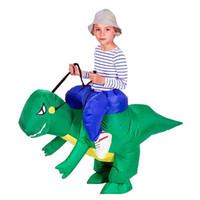 Adulte gonflable Costume Costumes de dinosaure T REX Blow Up Costume de mascotte cosplay costume pour les hommes femmes enfants Dino Cartoon