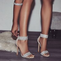 Hot Sale- Luxury Crystal Heel Sandals Brand Design Sexy Bling...
