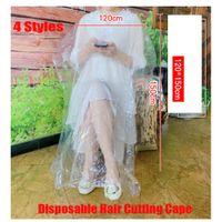 Taglio dei capelli monouso Cape Salon Gown Taglio Stilista Stilista Nylon Barbiere Panno 78x110cm 90x120cm 110x130cm 120x150cm 4 Stile Disponibile