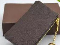 Titular chave do malote M62650 POCHETTE CLES a forma das mulheres dos homens Chaveiro Credit Coin Purse Luxo Mini Carteira encanto do saco de lona Brown