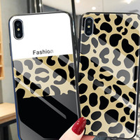 For iphone xs xr phone case Tempered glass mobile phone case...