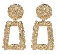 Gold Silber Geometrische Aussage Ohrring Metall Drop Ohrring Hängen Mode Große Vintage Baumeln Ohrringe Für Frauen Schmuck