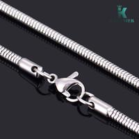 10шт / много Promotion! Оптовая 925 Серебряное ожерелье Мода серебряные ювелирные изделия цепь змейки 3мм серебряные ожерелья Модные аксессуары