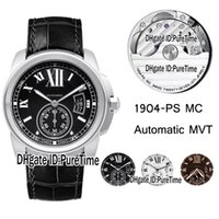 Best Edition 42mm W7100041 Steel Case Black Dial 1904MC Auto...