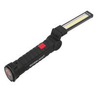 Taşınabilir 5 Mod COB Fener Meşale USB Şarj Edilebilir LED İş Işık Manyetik COB Lanterna Açık Kamp Için Asılı Kanca Lamba