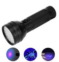 Hohe Leistung lila Licht Taschenlampe 51 Lampen-Korn des Cree-LED violett UV-Taschenlampen Taschenlampe superhellen besten Jagdlampen Aluminiumlegierung-Fackel