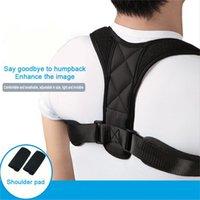 Lage-Korrektor verstellbare Rücken Stützgurt Clavicleweinlesehalskette Wirbelsäule Rücken Schulter Lendenwirbelkörperhaltung Korrektur Anti-Buckel-Effekt