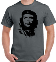 Che Guevara Face Silhouette - Mens Iconic T- Shirt Revolution...