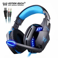 KOTION CADA PS4 Gaming Headset graves profundos Stereo Casque Wired Jogo Earphones Gaming auscultadores com microfone para PS4 PC Portátil