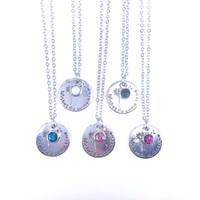 12 الألوان المولد التمنيات لا تأتي تلح قلادة كريستال اليدويه سحر قلادة المرأة ومجوهرات مجاني الرغبات بطاقة X281