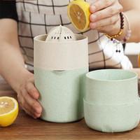 Einfache Verwendung Kunststoff Squeezer Home Manuelle Entsafter Weizen Stroh Kunststoff Zitrone Tasse Küche Obst Gemüse Werkzeuge