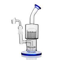 TORO Ağacı Cam Yağı Kuleleri Su Bongları Sigara Su Boruları Heady Glass Dabber Recycler Bong 14mm Banger Nargile ile 8.7 ''