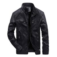 Leather Punk Jackets Men PU Motorcycle Leather Windbreaker M...