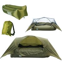 Tenda da campeggio gonfiabile singola da campeggio esterna ultra leggera pieghevole con zanzariera