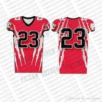 Top Custom Football Jerseys Mens Stickerei Logos Jersey Freies Verschiffen billig Großhandel jeder Name eine beliebige Anzahl Größe S-XXXL88800