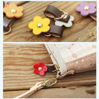 3. 5*2cm Genuine Leather Flower Zipper Puller DIY Handmade Ga...