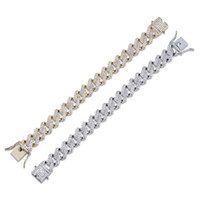 Iced Out 14MM Thick Heavy Gold Silver Cuban Link Bracelet Co...