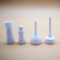 14 milímetros 18mm femininos masculinos Nails cerâmicos Joint Domeless com Carb Cap fumadores Domeless prego Ceramic Dica ST01-04