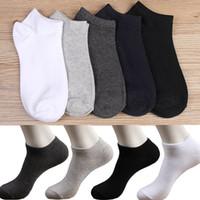 1 par de calcetines de los hombres de verano escotado Crew informal Mezcla Deporte calcetines de algodón suave