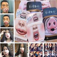 Funny Mouth Mask Cute Anti Dust Funny Teeth Cotton Mouth Mas...