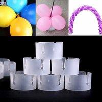 Parti Dekorasyon 50 ADET Balon Kemer Klasörü Uygun Tokalar Klip Konnektörler Düğün Dekor Malzemeleri