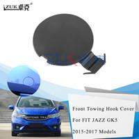 ZUK automatique de voiture pare-chocs avant de remorquage Hauling Crochet chapeau de couverture de cas pour HONDA FIT JAZZ GK5 2015 2016 2017 OE # 71104-T5H-H00 Couleur de base