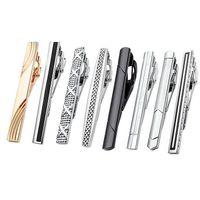 Streep arrow Cross Tie Clips Shirts Shirts Zakelijke Pakken Gouden Ties Bar Clasps Mode-sieraden voor Mannen Gift Stropdas Pin Clasp Drop Ship