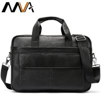 Messenger Bag Men Leather Men Briefcase Genuine Leather 14&q...
