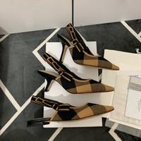 Moda tasarımcısı Bow Knot Yüksek topuk ayakkabı Kadın Pist Sivri Burun Düşük Topuk Ayakkabı Kadın Gladiaor Sandalet Lady Marka Tasarım Düz Ayakkabı Topuk