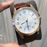 High quality Brown Leather Top luxury Fashion quartz Mens St...