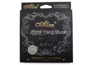 Alice A747 Professional Violino Cordas Nickel-Plated alta Aço Carbono Nylon Núcleo SilverAluminum Alloy Ferida cordas 1ª a 4ª