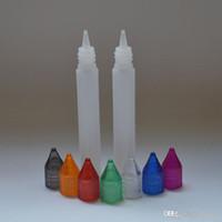30ml PE-Flaschen E-Flüssigkeitsflaschen mit bunten Kappen Dropper-Plastikleere Stiftart-Flasche